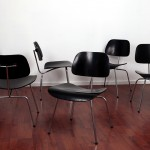 Charles et Ray Eames - Suite de six chaises DCM