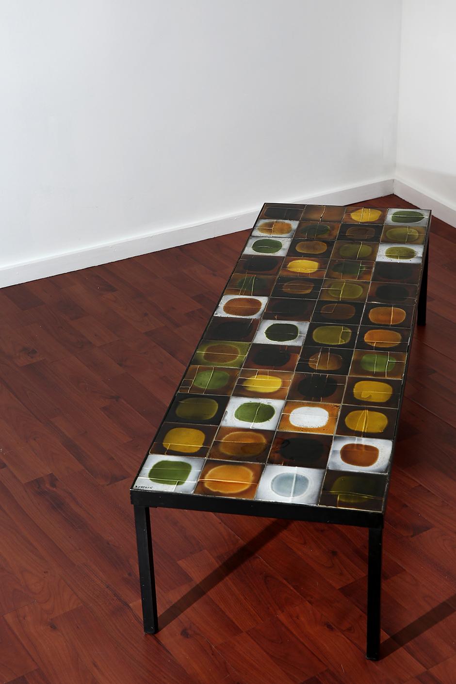 Roger capron mg galerie for Table en ceramique rectangulaire