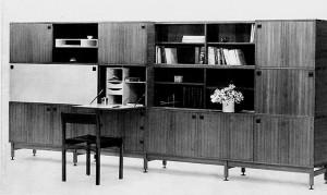 Archives - meuble de living de la série Multi TV 67 dessiné par André Monpoix et édité par Meubles TV