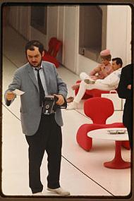 Stanley Kubrick sur la tournage de 2001, l'Odyssée de l'espace