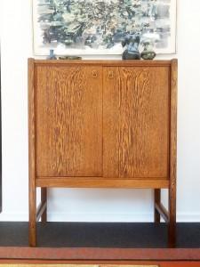 Cabinet en placage de palmier - Vers 1970