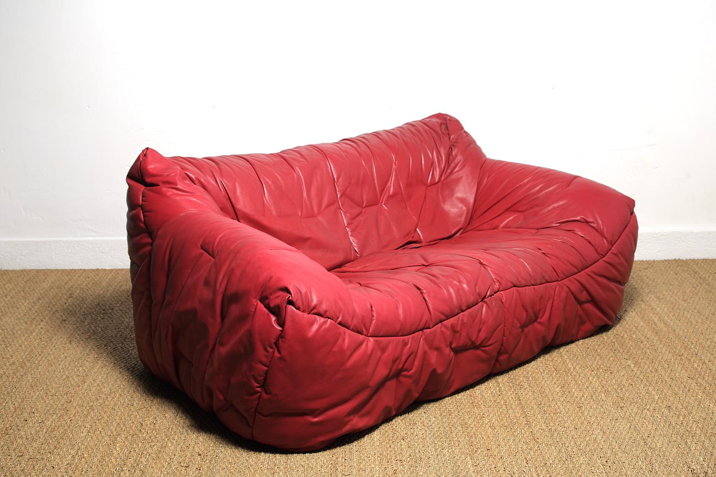 hans hopfer canap en cuir informel sofa mg galerie. Black Bedroom Furniture Sets. Home Design Ideas